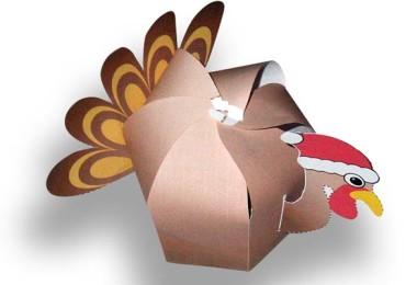 Christmas Turkey Papercraft Design