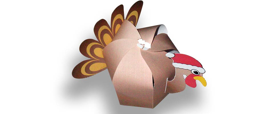 Christmas Turkey Papercraft Paper Toys West Midlands Graphic Design
