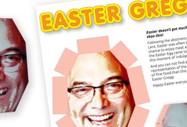 Easter Egg? Easter Gregg …