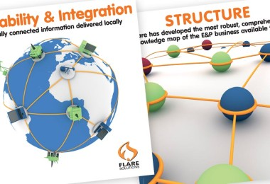 Flare Solutions Exhibition Poster Design with 3d Illustration