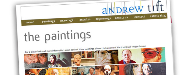 Portrait Artists Website Design