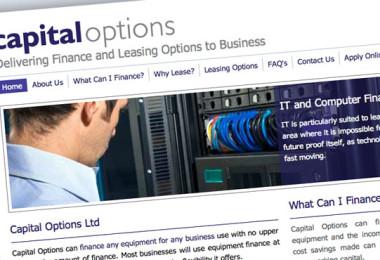 Website Design for Capital Options