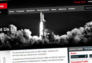 The Economist CSS Website Design