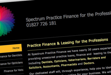 Website Design for Spectrum Finance