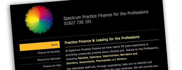 Website Design for Spectrum Finance