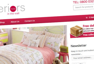 Ecommerce Website Design for Hole in the Wall Interiors