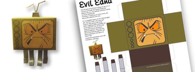 Evil Edna Papercraft Design