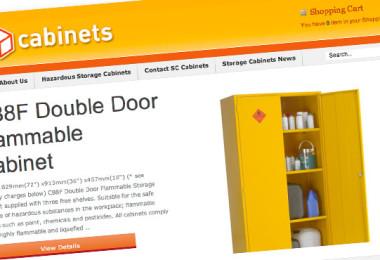 Ecommerce Website Design for SC Cabinets