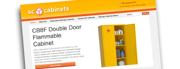 Ecommerce Website Design for SC Cabinets