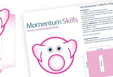 Papercraft Piggy Bank for Momentum Midlands
