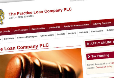 Practice Loan Company Mobile Website Design