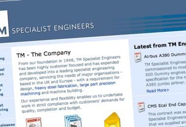 Website design for TM Specialist Engineers