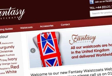 Fantasy Waistcoats Ecommerce Design Makeover