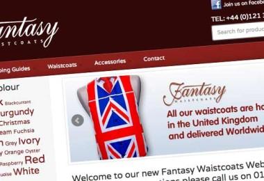 Fantasy Waistcoats Ecommerce Design Makeover
