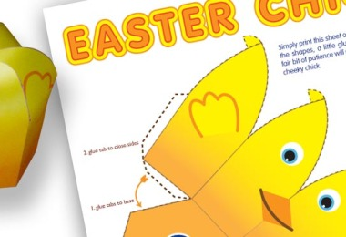 Easter Chick Papercraft