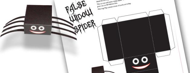 False Widow Spider Paper Craft