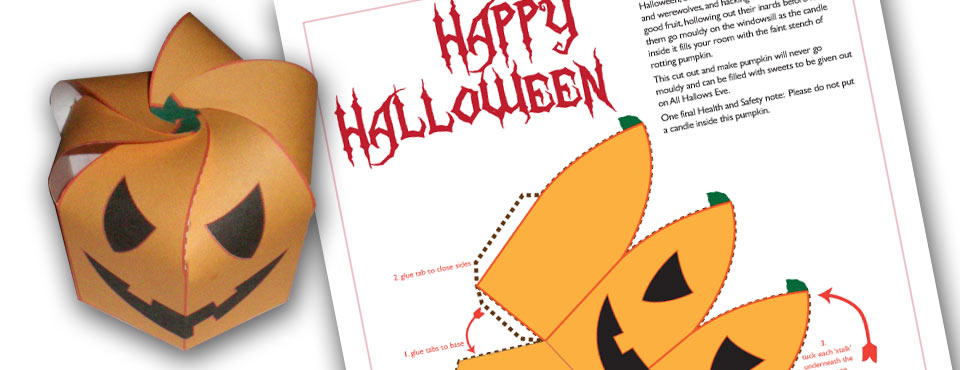 Halloween Pumpkin Papercraft Design West Midlands Graphic Design